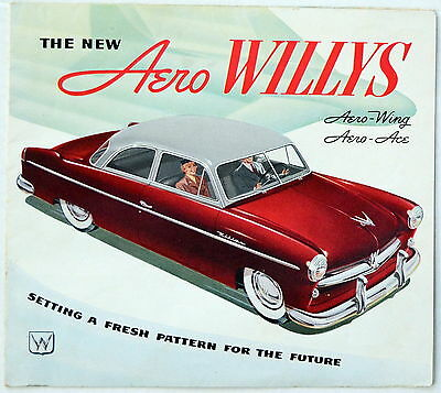WILLYS BROCHURE for the NEW AERO ~ The WING and ACE ~ ORIGINAL