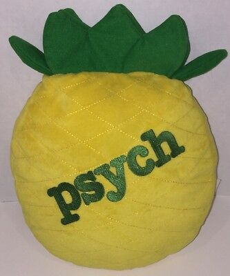 "PSYCH TV Show PINEAPPLE 12"" Promotional Pillow Plush 2010 Stuffed Toy RARE HTF"