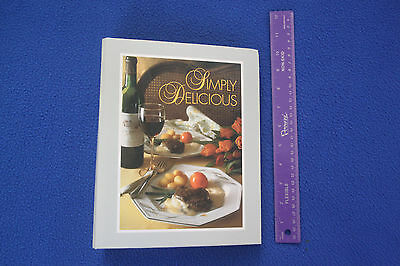 Cookbook By Simply Delicious Cook Book Binder W/ 57 Recipe Inserts Incomplete Vg