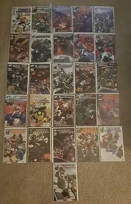 Lot of 26 Transformers Comics- Marvel,IDW, DW-Lots of #1's and keys!