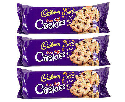 3 x Cadbury Choc Chip Cookies 144g