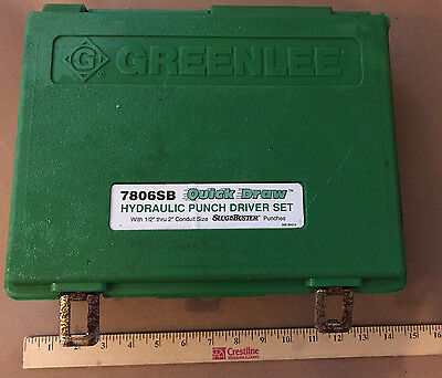 Greenlee Quick Draw Hydraulic Punch Driver Set 7806Sb Electrician Tool