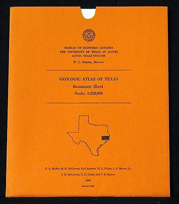 Geologic Atlas Of Texas Beaumont Sheet Scale 1:250,000 Revised 1992