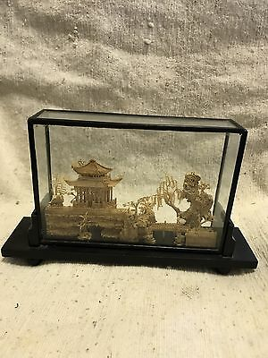 Chinese Wood Carving Scene