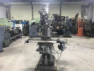 "Bridgeport Vertical Milling Machine Power Feed 9"" X 42"" Table"