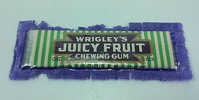 Dated 1935 Sealed Stick Of Wrigley's Juicy Fruit Chewing Gum