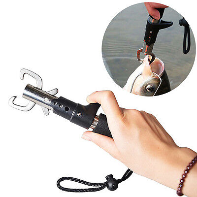 Portable Fish Lip Grabber Gripper Grip Tool Fish Holder Stainless Steel Fishing