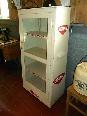 Tom's Peanuts advertising display case Selling Box Very Nice!! Great Piece!!