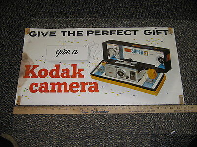 KODAK store display 1960s SUPER 27 camera poster #2