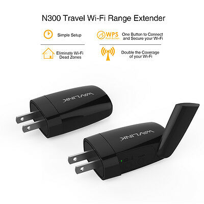 Wavlink Mini N300 Travel WIFI AP/Repeater Range Extender With External Antennas
