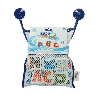 NEW Tolo Toys ABC Alphabet Foam Bath Stickers - 26 pieces