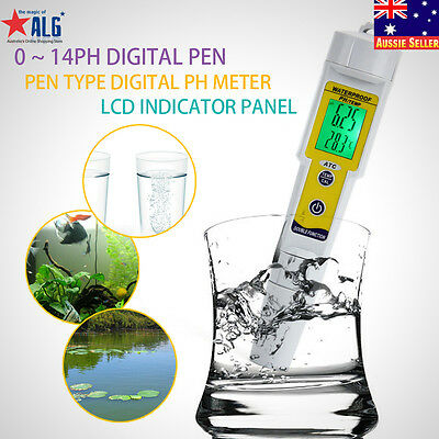 Professional Digital Pen-Type PH/TEMP Meter Water Quality Tester 0~14pH T0V1