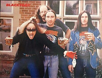 Blackfoot - 1 Page Poster From Vintage Kerrang! Magazine