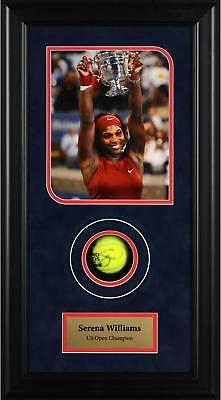 Serena Williams Autographed Tennis Ball US Open Shadowbox