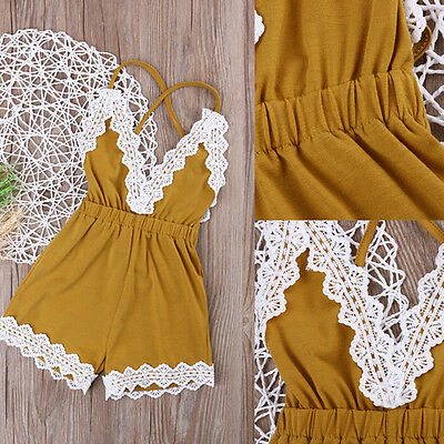 Toddler Infant Kids Baby Girls Summer Romper Jumpsuit Playsuit Bodysuit Sunsuit