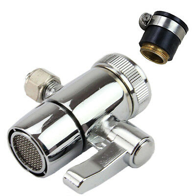 """Counter Top Water Filter Faucet Tap Universal Adapter 1/4"""" Outlet Diverter Valve"""