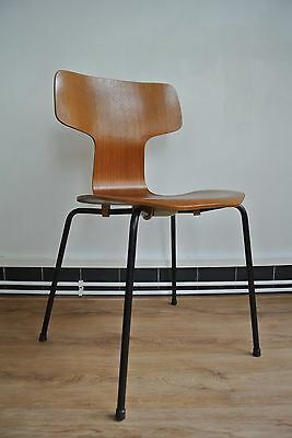 original fritz hansen 3107 stuhl chair arne jacobsen vintage teak eur 202 56 picclick de. Black Bedroom Furniture Sets. Home Design Ideas
