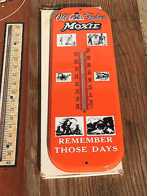 RARE FIND + * NOS * MOXIE Bottle Soda Advertising Sign Thermometer Mint NOS