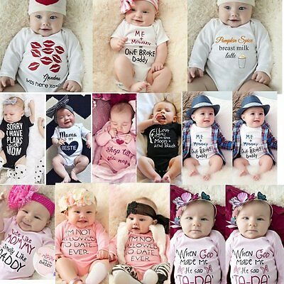 Newborn Infant Baby Boy Girls Cotton Romper Jumpsuit Bodysuit Clothes Outfits 2
