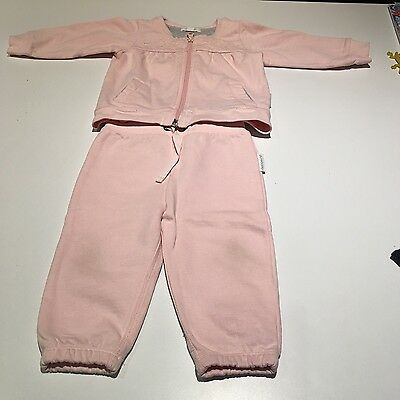 PURE BABY - Girls 2 piece track suit - size 6-12 months