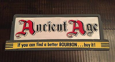 Vintage Ancient Age Plastic Whiskey Sign
