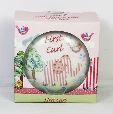 First Curl Trinket Box Pink Ceramic Little Bird & Ellie Gift Lp33107