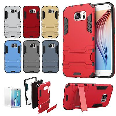 Kickstand Shockproof Hybrid Case Cover For Samsung Galaxy S6 S7 Edge S8+ Note 8