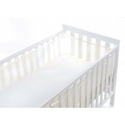 Breathable Babycot/Cotbed Bumper Mesh Liner  - 4 Sided  - 10 Colours Available