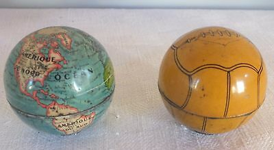 lot 2 taille crayons anciens collection ballon mappemonde pencil sharpener
