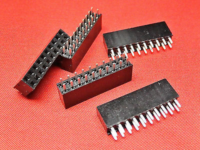 10+10 Way PCB Header Socket Strip DOUBLE ROW Gold Plated TFH20DS
