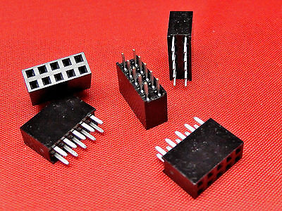 5+5 Way PCB Header Socket Strip DOUBLE ROW Gold Plated TFH10DS