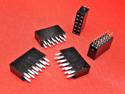 6+6 Way PCB Header Socket Strip DOUBLE ROW Gold Plated TFH12DS