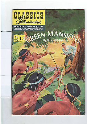 Classics Illustrated #90 (NO RESERVE)  Green Mansions - W.H. Hudson