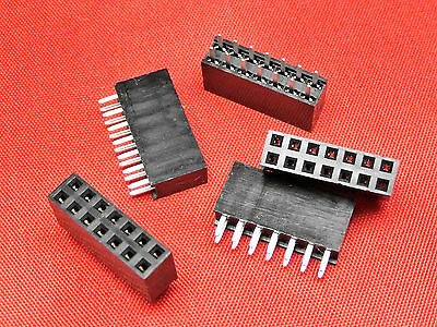 7+7 Way PCB Header Socket Strip DOUBLE ROW Gold Plated TFH14DS