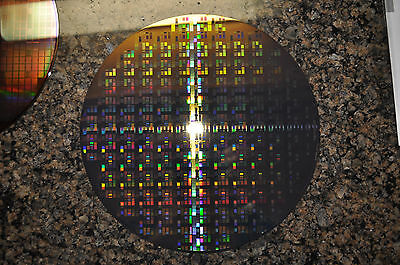 "8"" New 931 Tungsten Microchip Pattern Silicon Wafer"