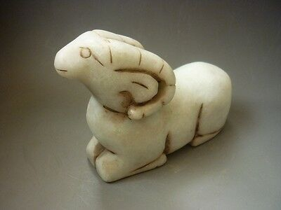 Chinese antiques, ancient noble, manual sculpture, jade,sheep,statues A58*+