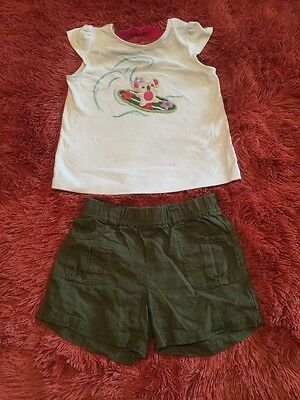 Girls Gymboree shorts and  top outfit, size 5