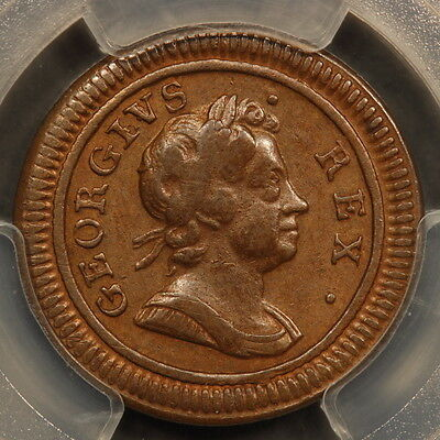 Great Britain Farthing 1719 S-3662 Copper PCGS XF40