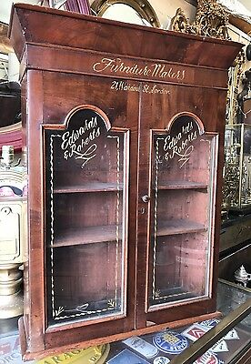 Nice Looking Wall Or Table Top Victorian Mahogany Shop Display Cabinet.  Offers?
