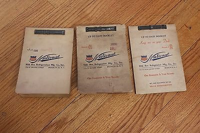Lot of 4 Vintage National Milk Box Refrigeration Salesman Vendor Catalogs Photos