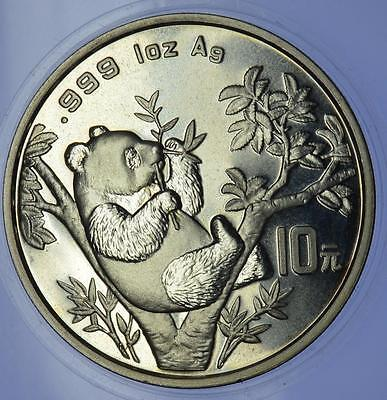 China - 1995 Silver 1 oz Panda 10 yuan Coin Large Twig