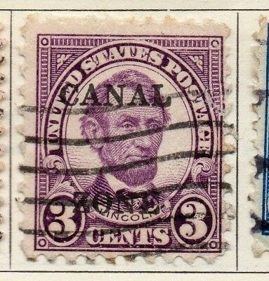 Panama 1924-27 Early Issue Fine Used 3c. Optd 150293