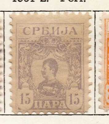 Serbia 1901-02 Early Issue Fine Mint Hinged 15pa. 150430