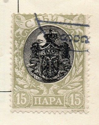 Serbia 1903 Early Issue Fine Used 15pa. Optd 150435