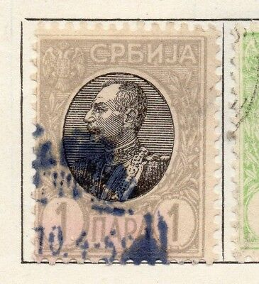Serbia 1905 Early Issue Fine Used 1pa. 150441