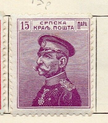 Serbia 1911 Early Issue Fine Mint Hinged 15pa. 150453