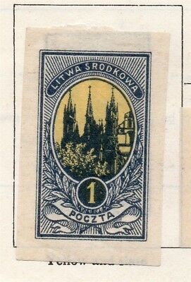 Lithuania 1921 Early Issue Fine Mint Hinged 1m. 150508