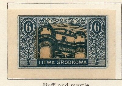 Lithuania 1921 Early Issue Fine Mint Hinged 6m. 150513