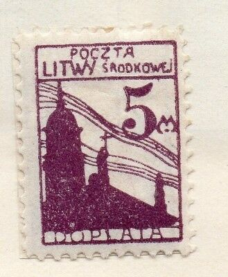Lithuania 1922 Early Issue Fine Mint Hinged 5m. 150531
