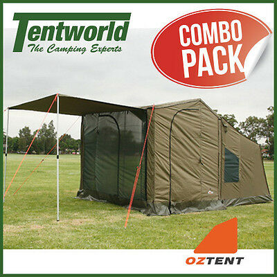 Oztent RV3 3-4 Man / Person Fast Frame Camping Tent - Complete Package